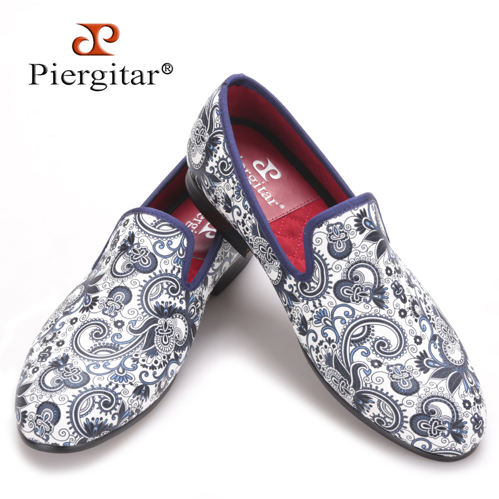 Piergitar 2016 new style Cashew flowers fabric prints men dress shoes Chinese style wedding and party men loafers mens flats<br><br>Aliexpress