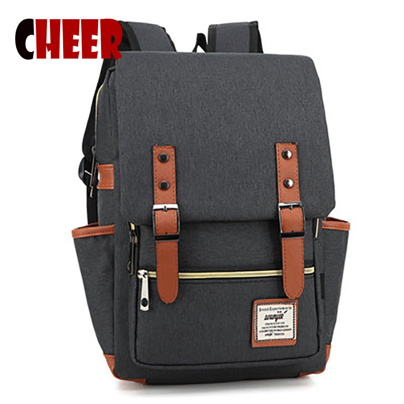 Large Capacity Laptop Bag Man Backpack Bag Black Backpack for Women School Bag high quality famous brand designer American style<br><br>Aliexpress