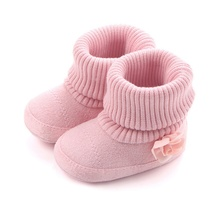 Baby Shoes Autumn Winter Crib First Walkers Kids Newborn Infant Toddler Super Keep Warm Flower 3D Flower Pattern Boots(China)