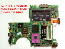 For DELL XPS M1530 Laptop Motherboard PM965 8600M 256MB CN-0MU715 MU715 100% Tested