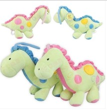 Hot 1pcs 35cm Baby Toy Dinosaur Ultra Soft Music Pull Bell Lathe Pendant Baby Soothing Doll Lovely Dragon Plush Toys Babys Dolls