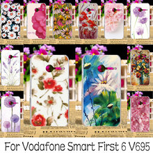 AKABEILA Hard Plastic Painted Cases Cover For Vodafone Smart First 6 V695 4.0 inch VF695 Phone Case Back Cover Housings Bags(China)