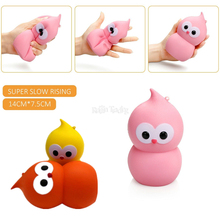 Cute Slow Rising Squishy Kawaii Owl Doll Cell Phone Strap Soft Squeeze 9CM Bird Bread Cake Scented Stretchy Toy Gift Pendant