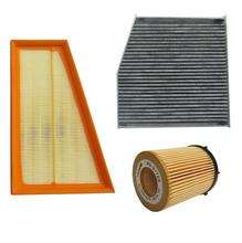 AUTODAB filters 2013 Mercedes Benz A180 A200 A250 air filter+oil filter+cabin filter
