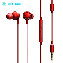 ROCKSPACE Mubow Stereo Earphone With Mic In-Ear Headset For Sony Xiaomi 3.5mm Aux Noise Cancelling Metal Microphone Stereo Sound