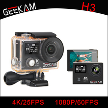"GEEKAM H3R Action Camera K3 4K Ultra Wifi Mini Cam Wifi 170D Wide Angle 2"" Dual Screen 30M Waterproof Go Sports Video Pro Camera(China)"