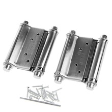 "2Pcs 3"" Stainless Steel Inch Double Action Spring Hinge Saloon Cafe Door Swing"