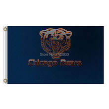 Dark blue Chicago Bears Flag Banners Football Team Flags 3x5 Ft Super Bowl Champions Banner Red Star World Series