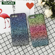 YESPURE PC Hard Gliter Para Pele for IPhone 7 Rainbow Cell Phone Holder Cheap Cell Phone Covers Accessories Antigravity Case