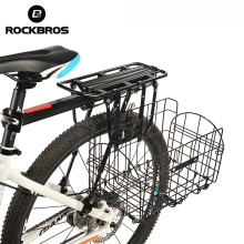 RockBros Road MTB Cycling Ciclismo Front Rear Foldable Handlebar Basket Box Bike Bicycle bicicleta Firm Classic Folding Pannier(China)