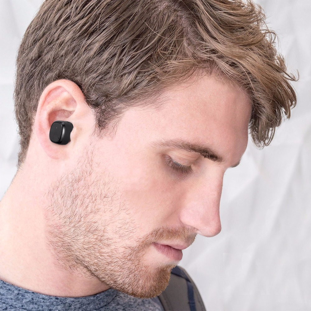 SOONHUA Wireless Bluetooth Earphone Mini In-ear Sports Stereo Earbuds Earpiece With Magnetic Charging Case For iPhone Samsung
