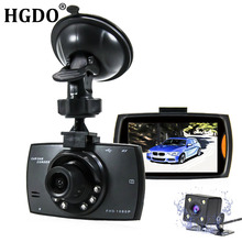 HGDO Car DVR Camera Full HD 1080P Dual Lens 140 Degree Dashcam Video Registrars for Cars 6 LED Night Vision G-Sensor Dash Cam(China)