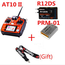 RadioLink AT10 2.4Ghz 10CH RC Transmitter with R12Ds Receiver PRM-01 Voltage Return Module for RC Airplane Helicopter Quadcopter
