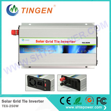 small solar grid tie inverter 250w ,dc 12v 24v 48v to ac 110V 220v solar inverter 250w pure sine inverter solar(China)