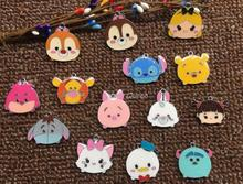 100pcs mix Cartoon Tsum Metal Charm Key chain necklace Pendants DIY Jewelry Making Mobile Phone Accessories