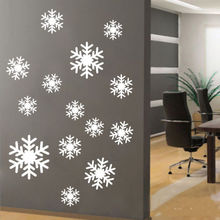 Snowflakes Wall Window art vinyl decal sticker Mural Holiday Winter Party Decor