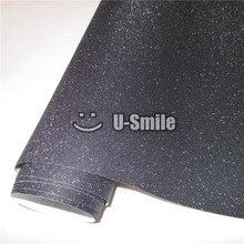 High Quality Black Bling Sandy Diamond Vinyl Film Roll Wrap Air Free For Phone Laptop Computer Skin Cover Size:1.52*30M(China)
