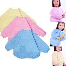 Cozy Cute Baby ToddLer Kids Children Long Sleeve Waterproof Art Smock Bib Apron(China)