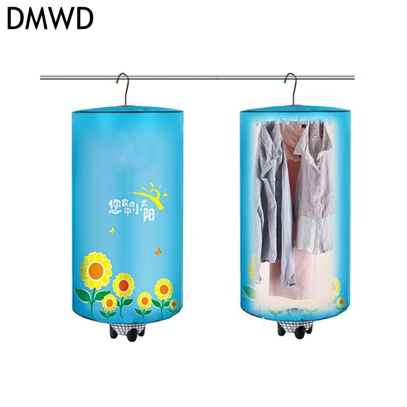 DMWD Electric Mini Clothes dryer Portable Foldable Hanging Type Quick dryer device 220V 500W stainless Steel rack Collapsible<br>