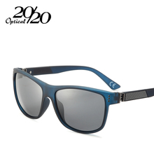20/20 New Classic Polarized Sunglasses Men Driving Carbon Fiber Frame Eyewear Male Sun Glasses for men Oculos 4 Colors PL293(China)