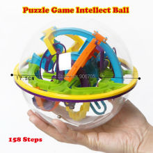 158 Steps 3D Magic Intellect Ball Marble Puzzle Game perplexus magnetic balls IQ Balance toy,Educational classic toys Maze Ball(China)