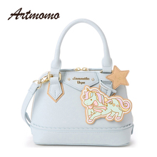 2017 New Sanrio Japan Gemini Unicorn Handbag women Shoulder Bag Cute Cartoon Bag Samantha Vega Messenger Bag(China)