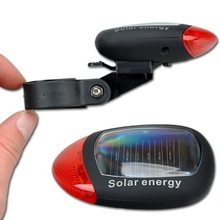 2 LED 3 Modes Bright Solar Energy Power Bike Mountain Bicycle Red LED Tail Rear Light Outdoor Sports Cycling Lamp MBI-21