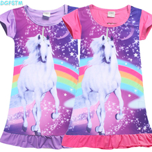 New unicorn Children Dress Clothing Summer Dresses Girls Baby Pajamas Costume Princess Nightgown Vestidos Infantis girl Clothes