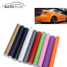 Universal 127*30CM 3D Carbon Fiber Film Vinyl Sticker Car Body/Interior Decoration Grey Red Black Gold White 10 Colors Optional