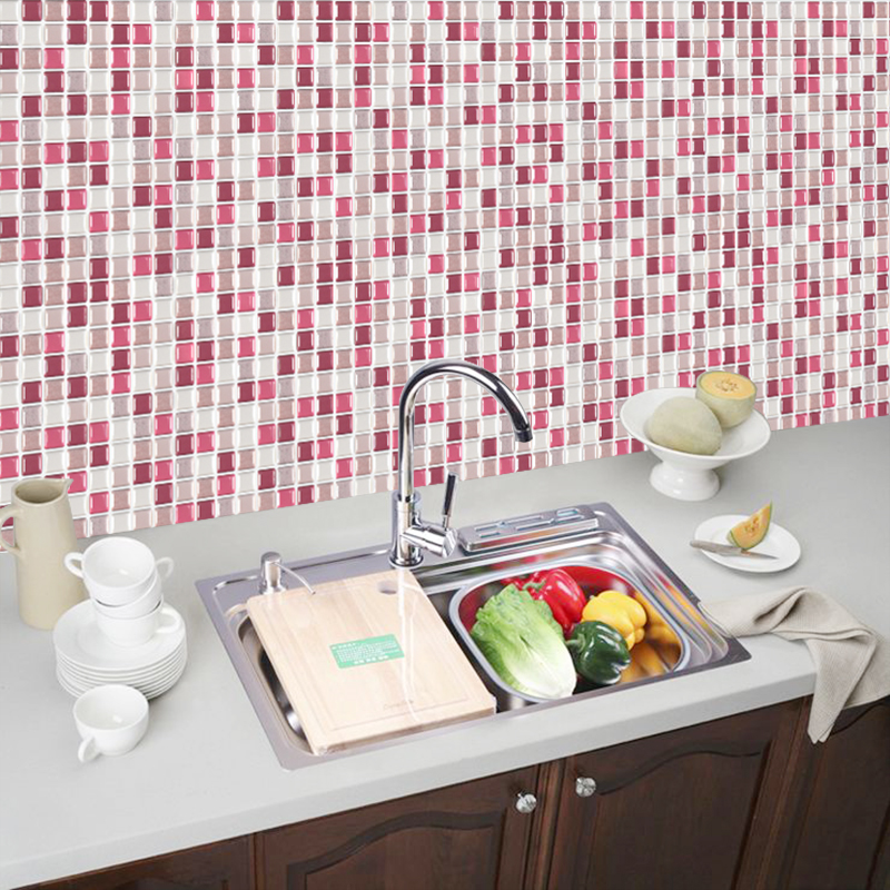 3D Stereo Wall Sticker Tile Self-Adhesive Kitchen Bathroom Decoration Ornament