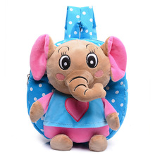Kid cartoon elephant backpack kids kindergarten cute schoolbag baby girl children school bags mochila escolar gift good quality(China)