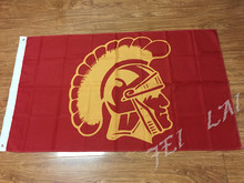 NCAA USC Trojans flag 3ftx5ft Banner 100D Polyester Flag metal Grommets(China)