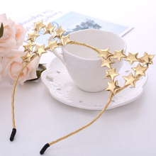 Cute Girl Children Cat Ears Hairbands Personality Star Animal Ear Headbands Gold Silver Hair Accessories for Halloween Christmas(China)