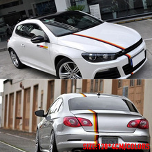 1 Set German flag Car Covers Sticker Badge car accessories Car-styling For BENZ BMW Volkswagen Audi German cars(China)