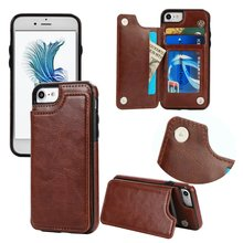 Mooshion Brand New Phone Flip holder stand Luxury Leather Credit Card Pocket Wallet Pouch Cover for iPhone 7 7Plus 6s 6 6Plus
