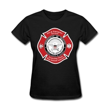 Fire Badge Women Natural Cotton buy cool t shirts online Female's Round Collar Machine Washable Short Sleeve  Summer Dress