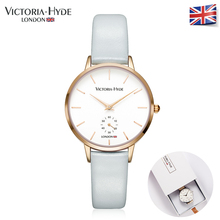 Victoria Hyde 2017 Fashion Summer Womens Watches Luxury Brand Leather Band Ladies Dress Quartz Wristwatches Waterproof Gift Box(China)