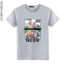 TIMESUNION men's lastest 2017 fashion short sleeve Shoes printed t-shirt funny tee shirts Hipster O-neck cool tops YDB925(China)