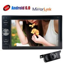 Android 6.0 Car DVD Player 2Din Head Unit GPS Car Stereo Support WIFI 3G/4G OBD Screen Mirroring CAM-IN FM/AM RDS Radio Receiver