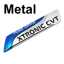 For Nissan Metal Pure Drive XTRONIC CVT Nismo Emblem Badge Tail Sticker Qashqai X-Trail Juke Teana Tiida Sunny Note Car Styling