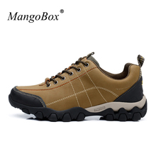 2017 Hot Sell Brand Climbing Shoes for Men Waterproof Man Mountain Climbing Shoes Lace Up Men Hiking Boots Trainers Cheap(China)