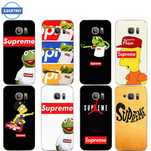 Phone Case for Samsung Galaxy S6 S7 S8 edge A5 A3 Note For Suprem Transparent Silicone TPU Back for fashion popular case