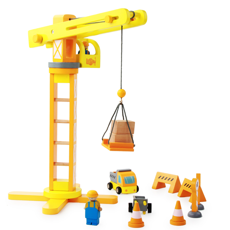 New Baby Toys Assemble Crane Wooden Toys Child Educational Creative Blocks Simulation Crane Toy Tower Infant Birthday Gift<br>