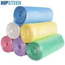 HIPSTEEN 6 Rolls Thicken Kitchen Household Points Off Trash Can Bin Rubbish Garbage Bag - Color Random