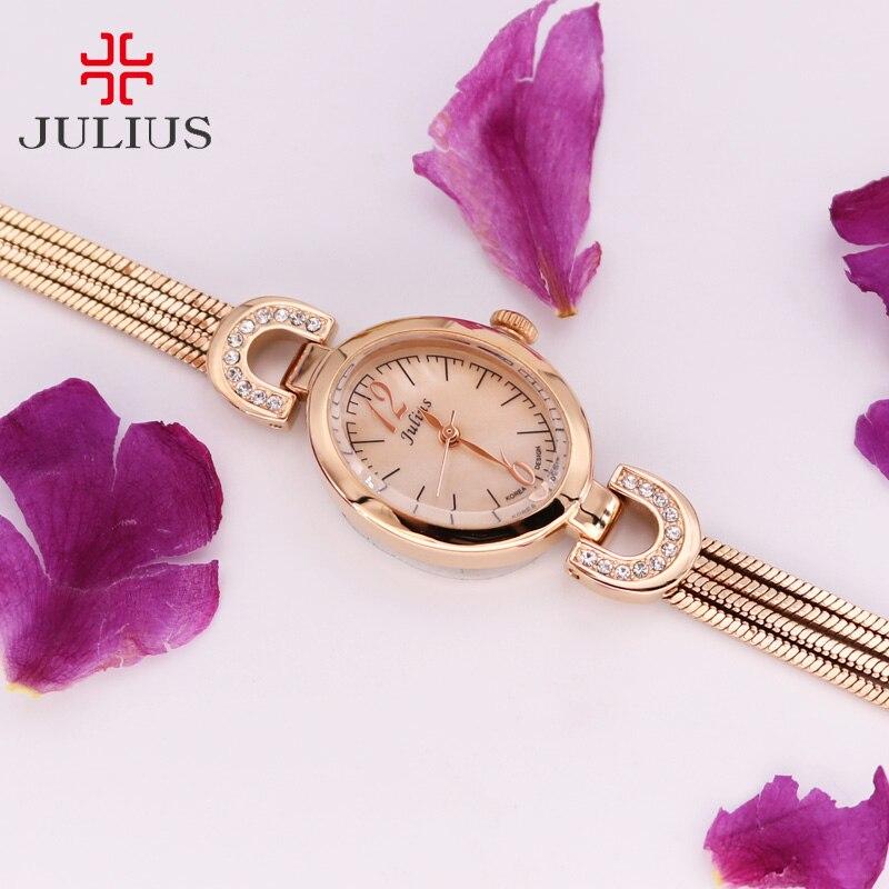 Julius Lady Womens Watch Japan Quartz Hours Fine Fashion Dress Chain Bracelet Metal Band Snake Tassels Girl Birthday Gift Box<br>