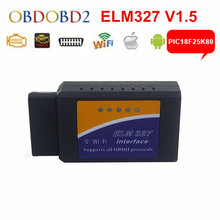 Newly ELM327 WIFI V1.5 Connection OBD2 Auto Code Reader WI-FI Connection ELM 327 Supports iOS Phone OBD2 Diagnostic Scanner(China)