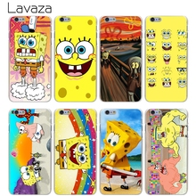 Lavaza Sponge Bob Hard Transparent Cover Case for iPhone X 10 8 7 6 6S Plus 5 5S SE 5C 4 4S