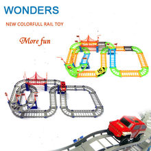New style colorful Rail car toy Multilayer railcar kids toys Thomas electric train track toy Toys with retail packaging