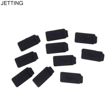 10pcs PC Laptop USB Plug Cover Stopper Soft Dust Cap USB 2.0 3.0 Interface Prevent Rust Dust Plug Black Silicone(China)