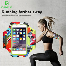 FLOVEME Sport Armband Bags Cases For iPhone 5s 5 Waterproof Gym Bags Accessories For iPhone 8 7 Mobile Phone Pouch Bag Arm Band(China)